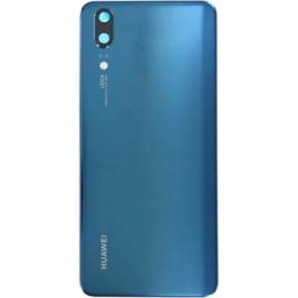 Vitre arrière pour Huawei P20 bleu