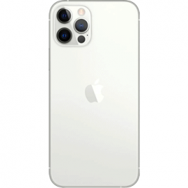 Vitre arrière argent pour iPhone 12 Pro