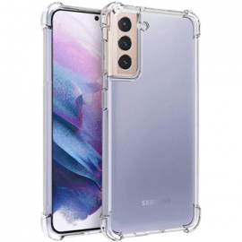 Coque en silicone transparent pour Galaxy S21