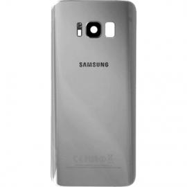 Vitre arriere argent originale Samsung Galaxy S8 Plus