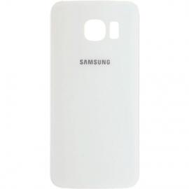 Vitre arriere blanche pour Galaxy S6 Edge