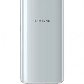 Vitre arriere argent originale Samsung Galaxy A80