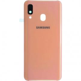 Vitre arriere orange originale Samsung Galaxy A40