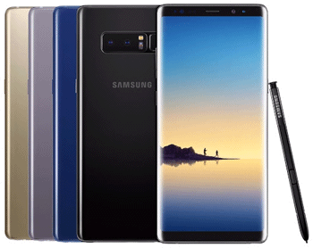 Samsung Note 8 couleurs