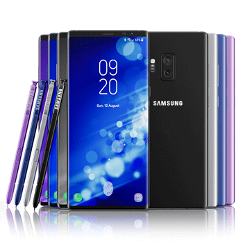 Samsung Note 9 couleurs